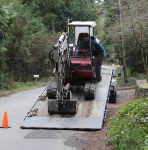 unloading tractor